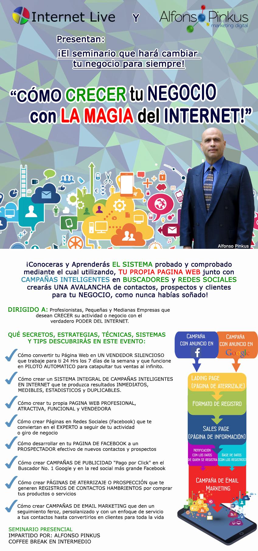 alfonso pinkus - seminario de como crecer tu negocio con la magia del internet en la ciudad de cancun quintana roo